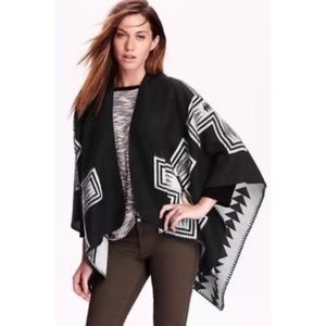 Old Navy Tribal Style Poncho. One Size.